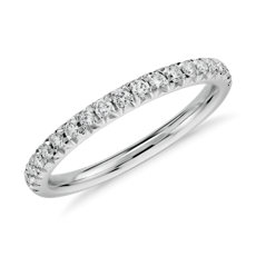 French Pavé Diamond Ring in 14k White Gold (0.24 ct. tw.)
