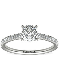 French Pavé Diamond Engagement Ring in 14k White Gold (1/4 ct. tw.)