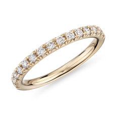 NEW French Pavé Diamond Wedding Ring in 14k Yellow Gold - I/SI2 (0.3 ct. tw.)