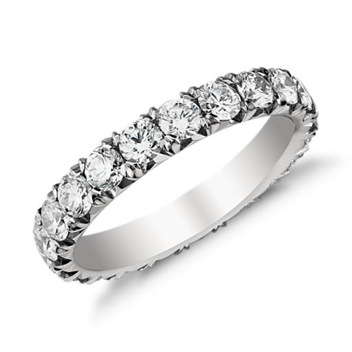 Diamond Eternity Platinum: French Pavé Diamond Eternity Ring In Platinum (2 Ct. Tw