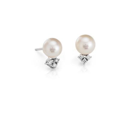 Blue Nile Freshwater Cultured Pearl Stud Earrings in 14k White Gold (7mm) zzs9eWjk