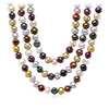 Collier de perles de culture d'eau douce ton rubis avec argent sterling - 54