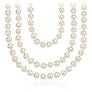 Collier de perles de culture d'eau douce à enrouler - 254 cm de long (6mm)