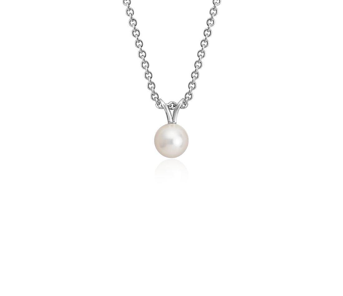 Freshwater Cultured Pearl Pendant with Sterling Silver (6.0-6.5mm)