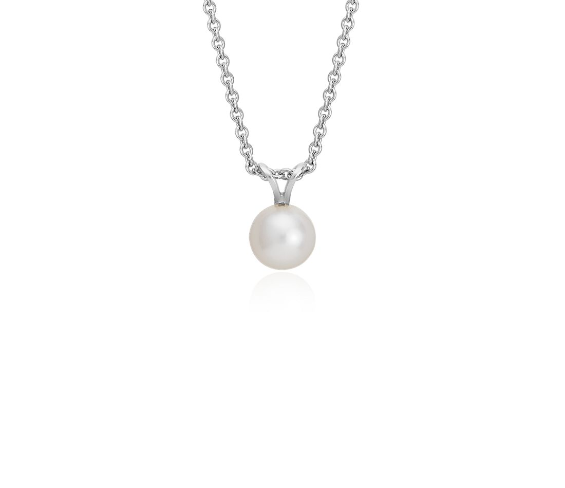 277ae98562a5c Freshwater Cultured Pearl Pendant with Sterling Silver (7.0-7.5mm)