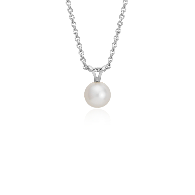 Freshwater Cultured Pearl Pendant with Sterling Silver (7.0-7.5mm