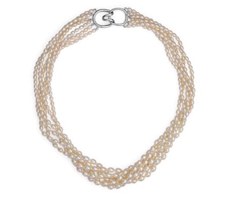 925 纯银淡水养珠饰带项链(3.5毫米)
