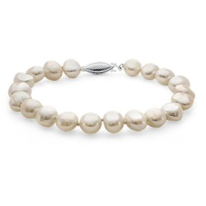Baroque Freshwater Cultured Pearl Bracelet in Sterling Silver (7.5mm)