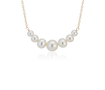 Freshwater Cultured Pearl Smile Necklace