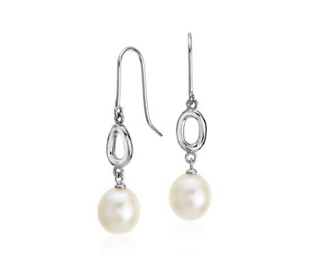 Blue Nile Infinity Drop Earrings in Sterling Silver JNengpFnv