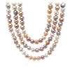 Collar de perlas cultivadas de agua dulce en colores pastel con plata de ley - 54