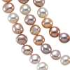 Pastel Freshwater Cultured Pearl Necklace with Sterling Silver - 54