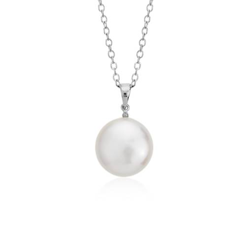coin necklace with golden river pearl