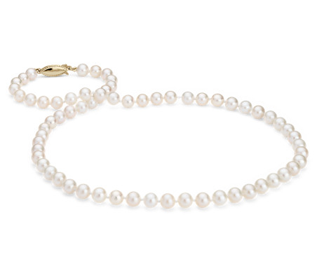 Freshwater Cultured Pearl Strand with 14k Yellow Gold (6.0-6.5mm)