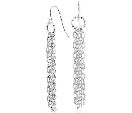 Fringe Chandelier Drop Earrings in Sterling Silver