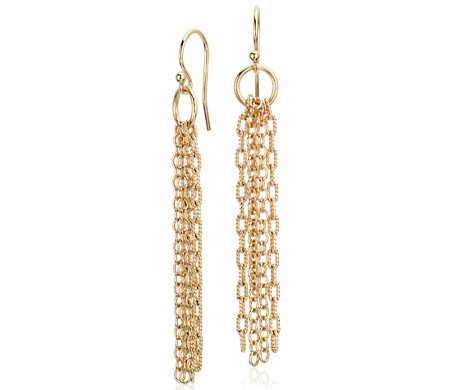 Fringe Chandelier Drop Earrings in Yellow Gold Vermeil