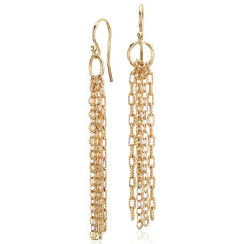 Fringe Chandelier Earrings in Yellow Gold Vermeil