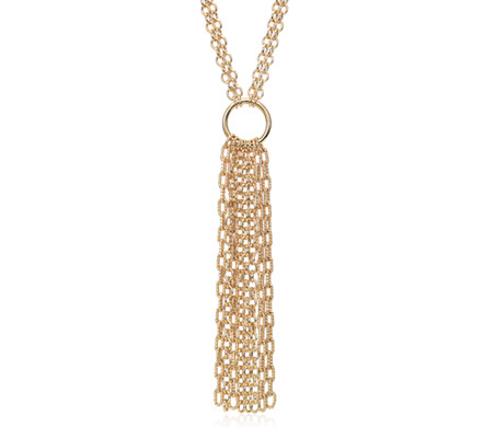 Fringe Necklace in Yellow Gold Vermeil