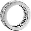 Gala Princess Cut and Pavé Diamond Eternity Ring in 18k White Gold (6.5 ct. tw.)