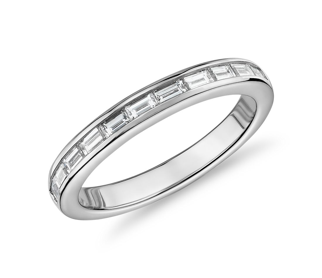 The Gallery Collection Baguette-Cut Diamond Eternity Ring in Platinum (1 1/10ct. tw.)