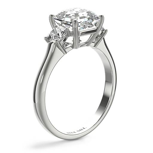 The Gallery Collection™ Cushion-Cut Three-Stone Diamond Engagement Ring