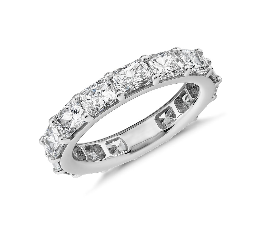 The Gallery Collection East-West Radiant-Cut Diamond Eternity Ring in Platinum (4.5 ct. tw.)