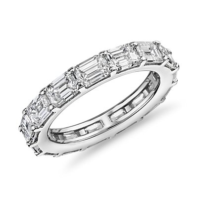 The Gallery Collection™ East-West Emerald Cut Diamond Eternity Ring in Platinum (4.5 ct. tw.)
