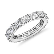 The Gallery Collection East-West Emerald Cut Diamond Eternity Ring in Platinum (4.5 ct. tw.)