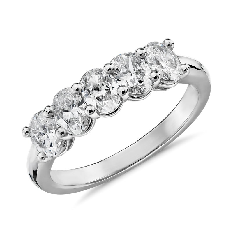 """The Gallery Collectionâ""""¢ Five-Stone Oval-Cut Diamond"""
