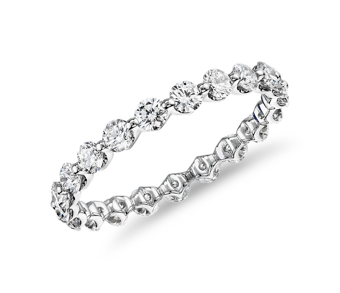 The Gallery Collection™ Floating Diamond Eternity Ring in Platinum (1 1/4ct. tw.)