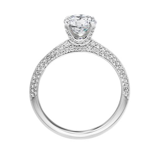 The Gallery Collection™ Knife Edge Micropave Diamond Engagement Ring