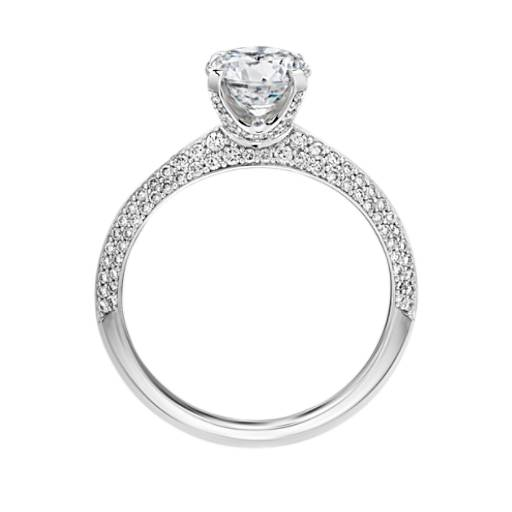 The Gallery Collection Knife Edge Micropave Diamond Engagement Ring