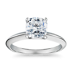 The Gallery Collection Knife Edge Solitaire Diamond Engagement Ring in Platinum