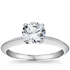 The Gallery Collection™ Knife Edge Solitaire Diamond Engagement Ring in Platinum