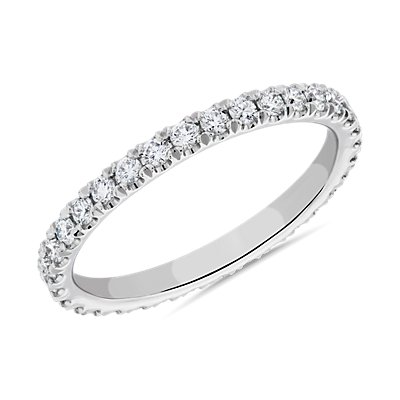 The Gallery Collection™ Pave Diamond Eternity Ring in Platinum (5/8 ct. tw.)