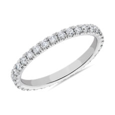 The Gallery Collection Pave Diamond Eternity Ring in Platinum