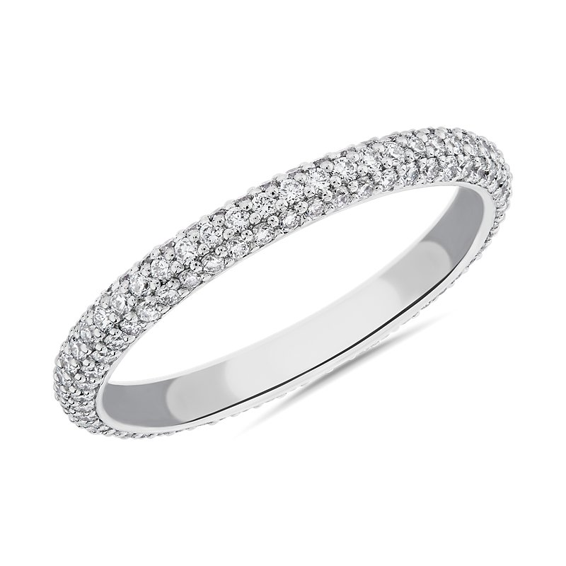 "The Gallery Collectionâ""¢ Rolled Pave Diamond Eternit"