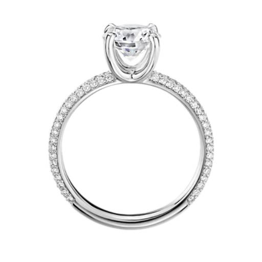 The Gallery Collection™ Rolled Micropave Diamond Engagement Ring