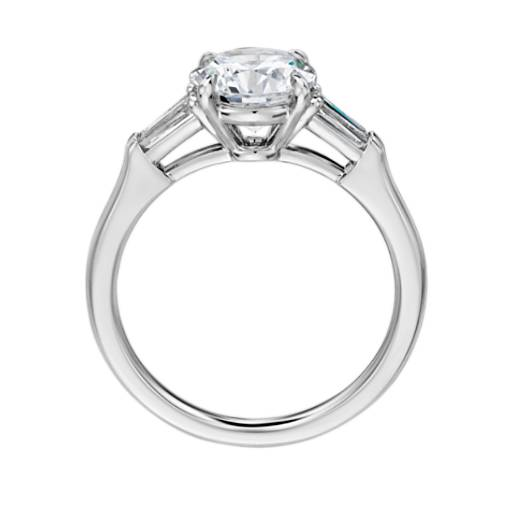 The Gallery Collection Tapered Baguette Diamond Engagement Ring