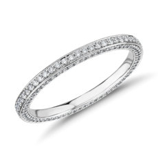 The Gallery Collection Trio Micropave Diamond Eternity Ring in Platinum
