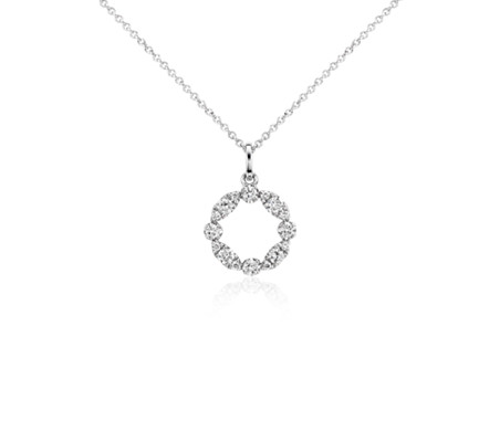 Garland circle diamond pendant in 14k white gold 14 ct tw garland circle diamond pendant in 14k white gold 14 ct tw aloadofball