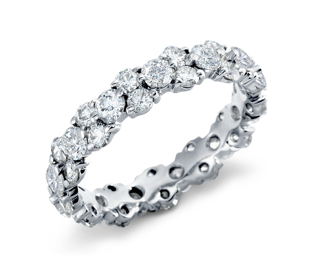 It is an image of Garland Diamond Eternity Ring in Platinum (38.38 ct. tw.)