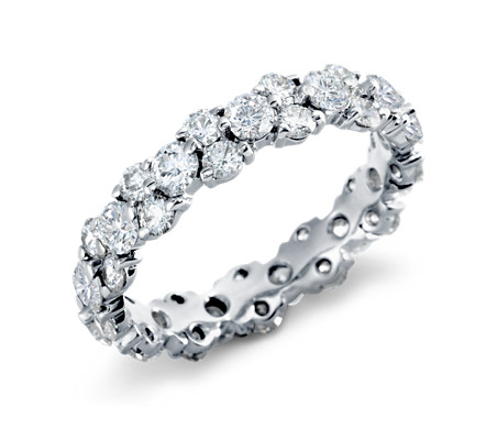 Garland Diamond Eternity Ring Platinum