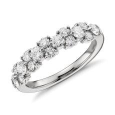 Bague diamant guirlande en platine