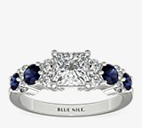 Garland Sapphire and Diamond Engagement Ring