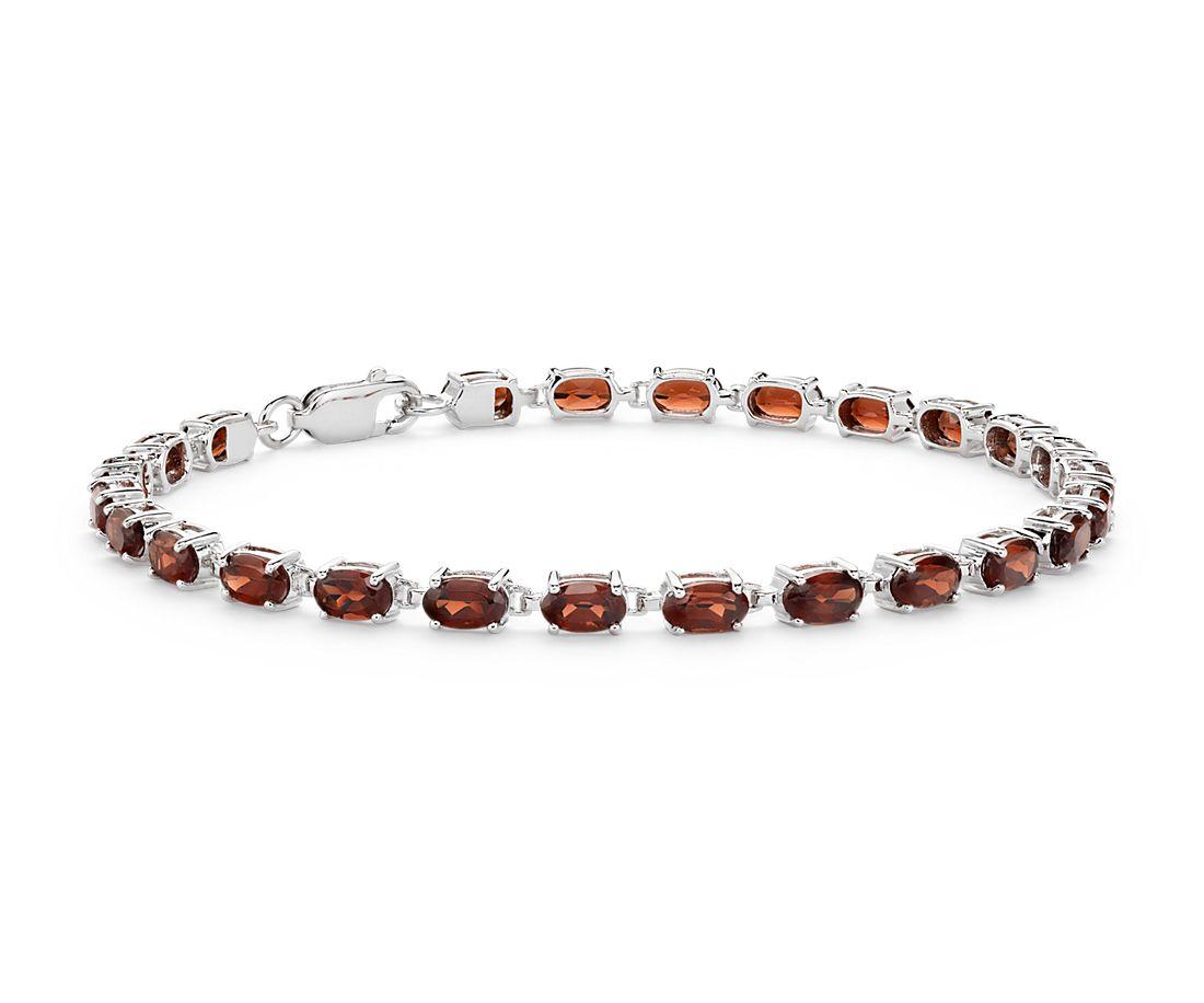 Petite Garnet Oval Bracelet