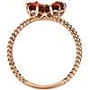 Garnet Butterfly Ring in 14k Rose Gold