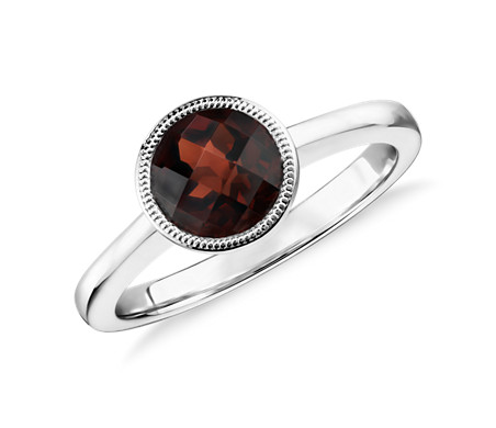 Blue Nile Garnet Rope Ring in Sterling Silver (7mm) NvvDH6T