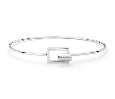 Geometric  Cuff Bracelet in Sterling Silver