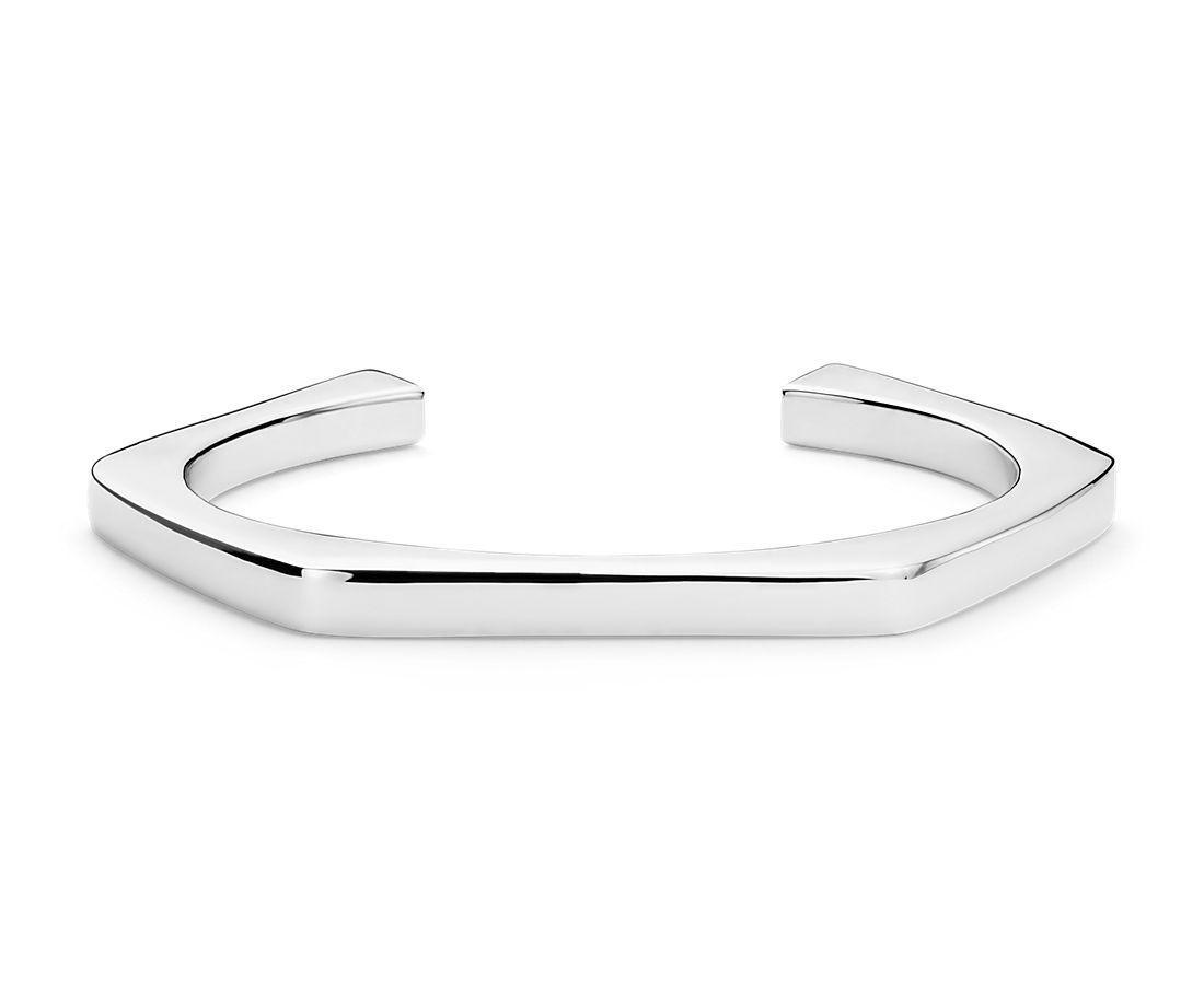 Geometric Cuff in Sterling Silver